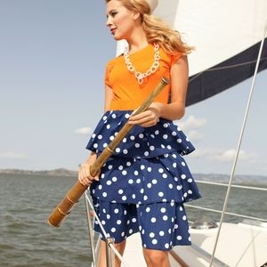 Walk the plank tiered polka dot sailor dress